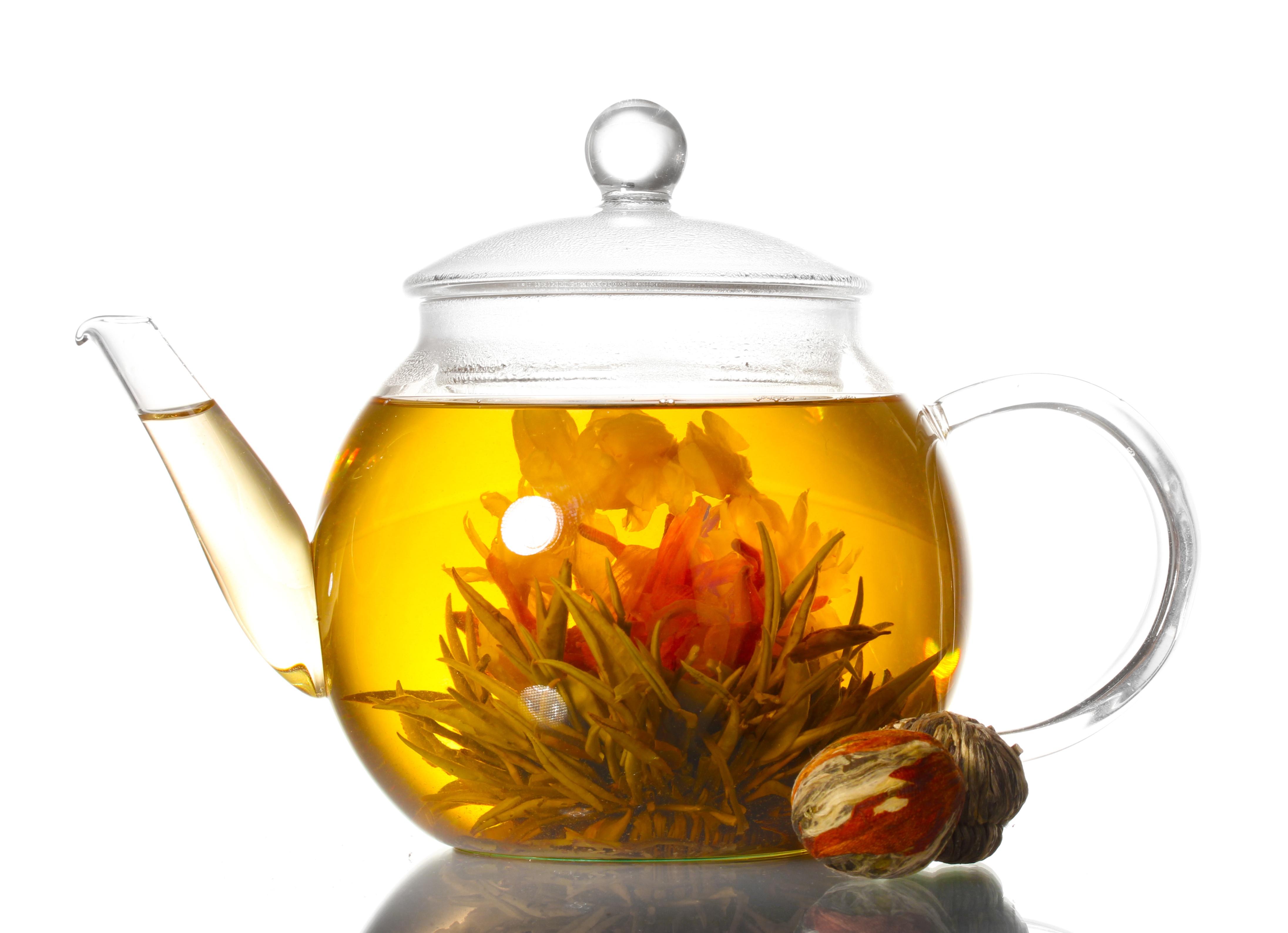floweringtea in teapot